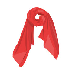 red silk woman s scarf female an accessory scarf vector image vector image