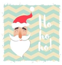 Santa claus happy face cartoon funny character vector