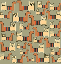 seamless pattern with cats vector image vector image