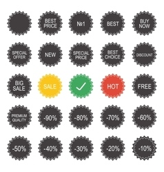 Shopping sale tags vector image