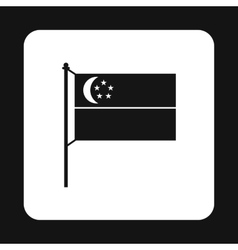 Singapore flag icon simple style vector