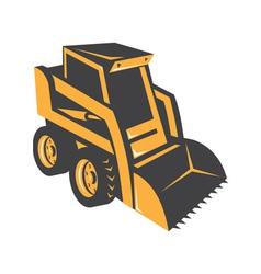 Skid steer digger truck vector