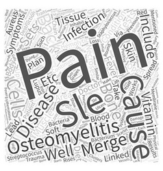 Sle and back pain word cloud concept vector