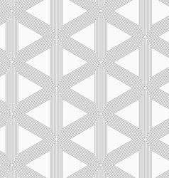 Slim gray triangle grid vector image