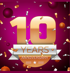 Ten years anniversary celebration design vector