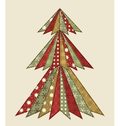Christmas tree for scrapbooking 4 vector