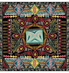 Colorful decorative pattern for shawl ethnic vector