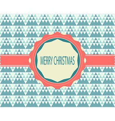 Christmas greeting card retro color vector