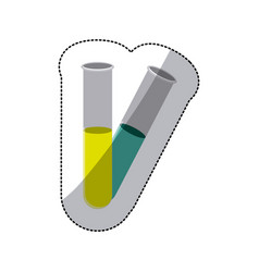 Color clinical tubes icon vector