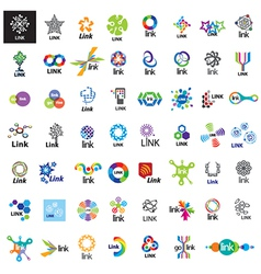 Biggest collection of logos link vector