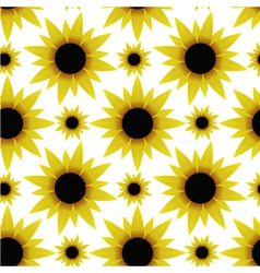 Seamless texture with sunflowers vector image