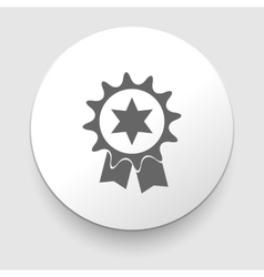 Badge with ribbons icon vector