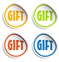 Gift sign stickers vector