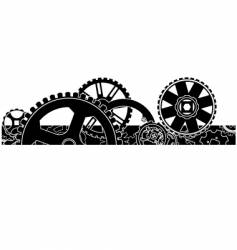 Gear box header footer vector
