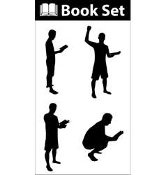 Book silhouette set vector