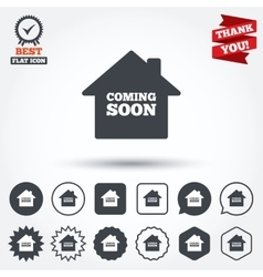 Homepage coming soon icon vector
