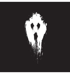 Scary ghost face vector