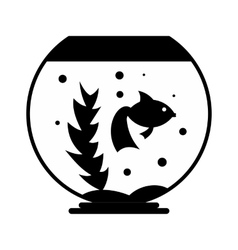 Aquarium simple icon vector