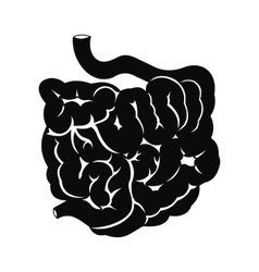 Small intestine black icon vector image