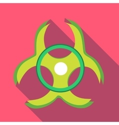 Biohazard symbol icon in flat style vector