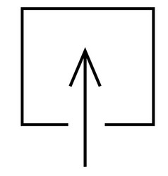 arrow direction up upload icon vector image
