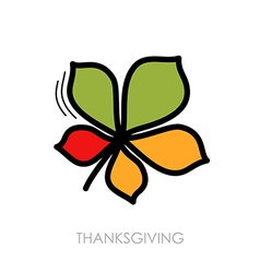 Autumn leaves chestnut icon vector
