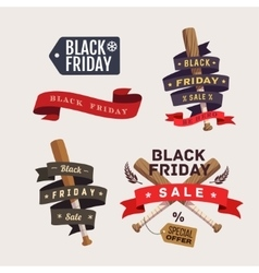 Black friday shopping labels vector