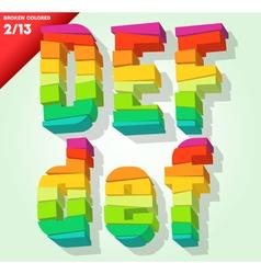 Broken colorful alphabet vector