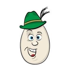 Cartoon egg face character vector