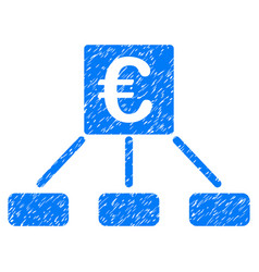 Euro money payment grunge icon vector