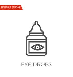 eye drops icon vector image