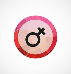 female symbol circle pink triangle background icon vector image vector image