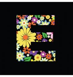 flower e vector image vector image