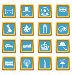 great britain icons azure vector image vector image