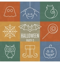 Halloween linear icons set with editable stroke vector image vector image
