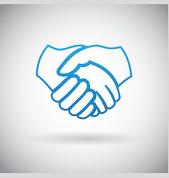 Handshake Cooperation Partnership Icon Symbol Sign vector image vector image