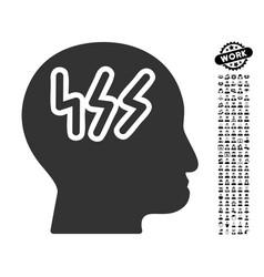 Headache icon with job bonus vector