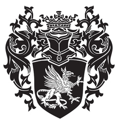 Heraldic silhouette no17 vector