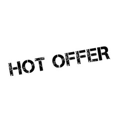 hot offer rubber stamp vector image vector image