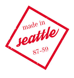 Made in seattle rubber stamp vector