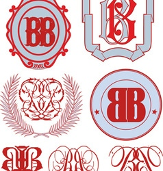 Monograms bb vector