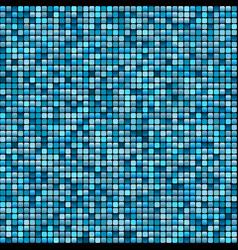 mosaic tile background aqua colours vector image vector image
