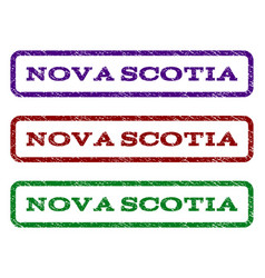 Nova scotia watermark stamp vector