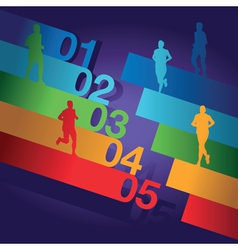 runners numbers vector image vector image