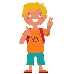 Schoolboy character character vector