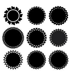 set of 9 label vector image
