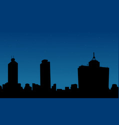 Silhouette of mexico building on city scenery vector