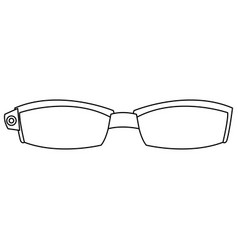 Smart glasses wearable technology accessory vector