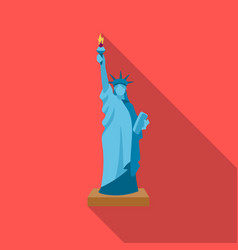 Statue of liberty icon in flate style isolated on vector