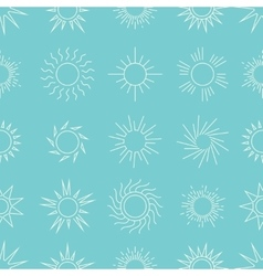 Suns in the sky seamless pattern vector image